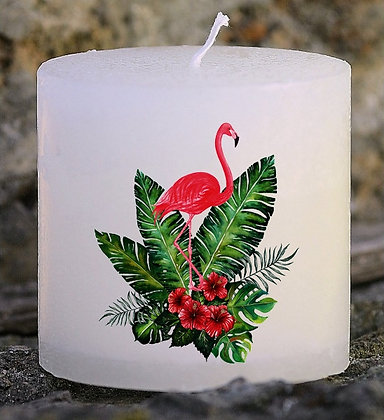 Bougie Personnalisée Nany Candle Flamand rose