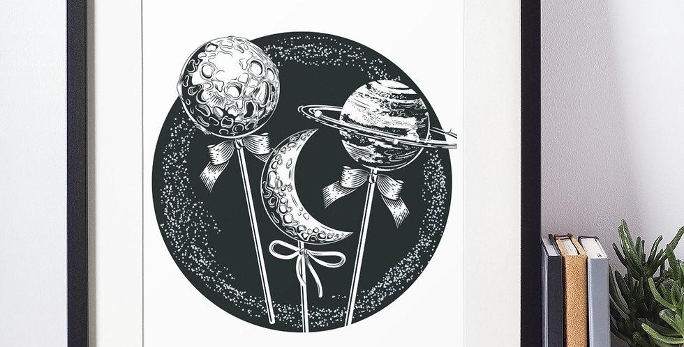 Affiche illustration système solaire 383