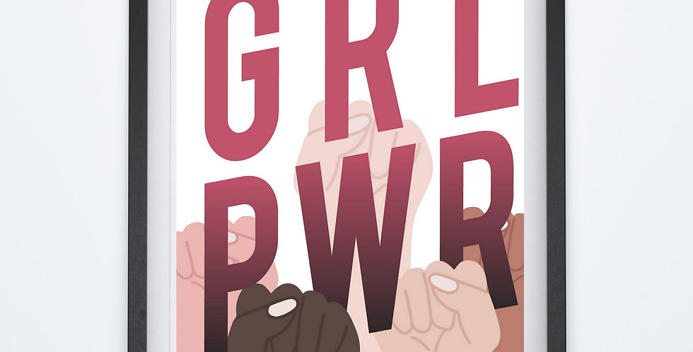 Affiche citation Girl Power 202