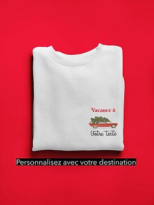 Sweat Pull Over Coeur personnalisation destination