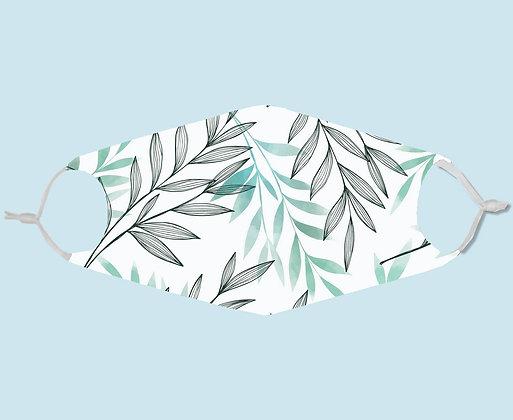 Masque de protection en tissu motif feuilles