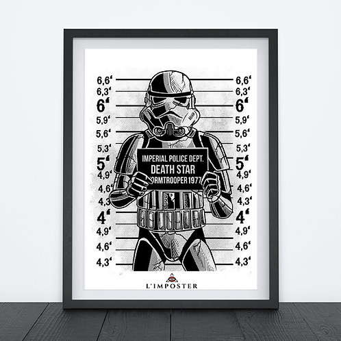 Affiche Star trooper Death Star