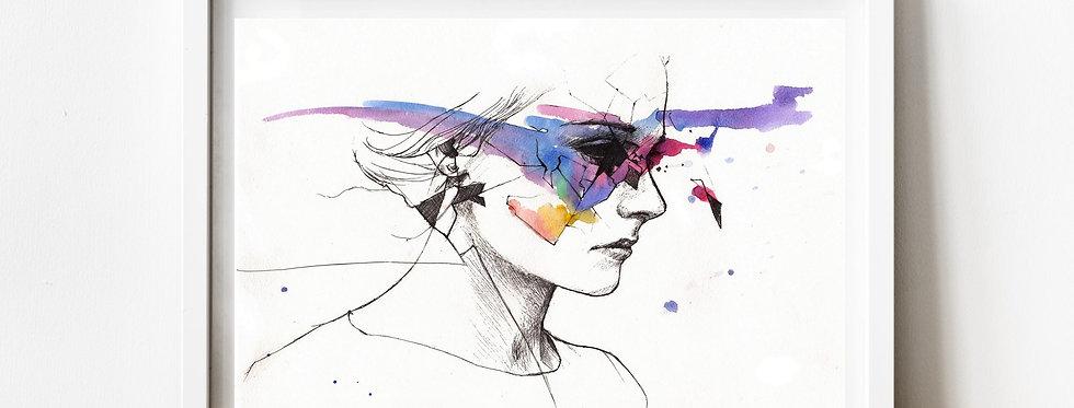 Affiche Femme watercolor 40