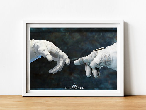 Affiche astronaute doigt
