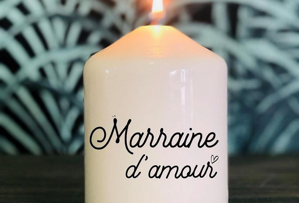 Bougie Marraine d'amour