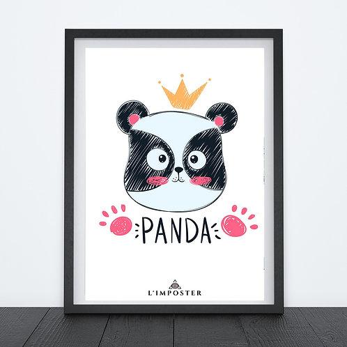 Affiche panda roi
