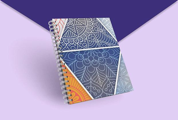Cahier à spirale arabesque multicolors