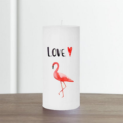 Bougie Personnalisée Nany Candle flamant rose