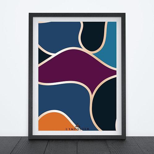Affiche formes couleurs 179