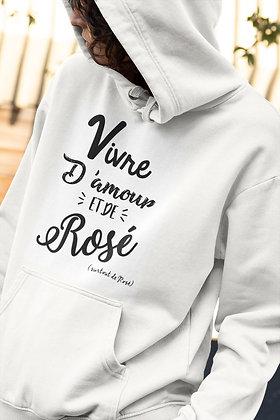 Sweat Pull Over Vivre d'amour et de rosé Citation