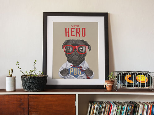 Affiche Illustration citation hero