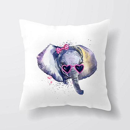 Housse de coussin Éléphant funny watercolor