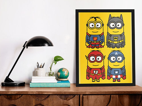 Affiche Illustration minion