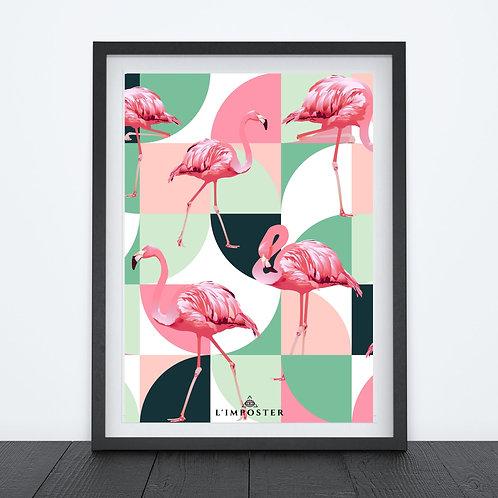 Affiche Flamands Rose
