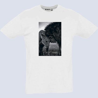 T-Shirt Unisexe Lion not alone