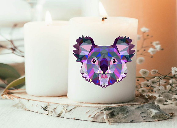 Bougie Imprimée Koala origami