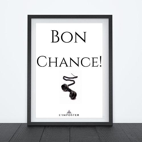 Affiche citation Bon Chance film taken