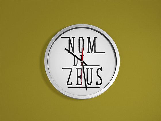 Horloge imprimé Citation Nom de zeus retour vers le futur
