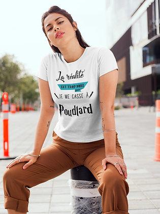 T-shirt unisexe La réalité est trop dure Citation poudlard harry potter