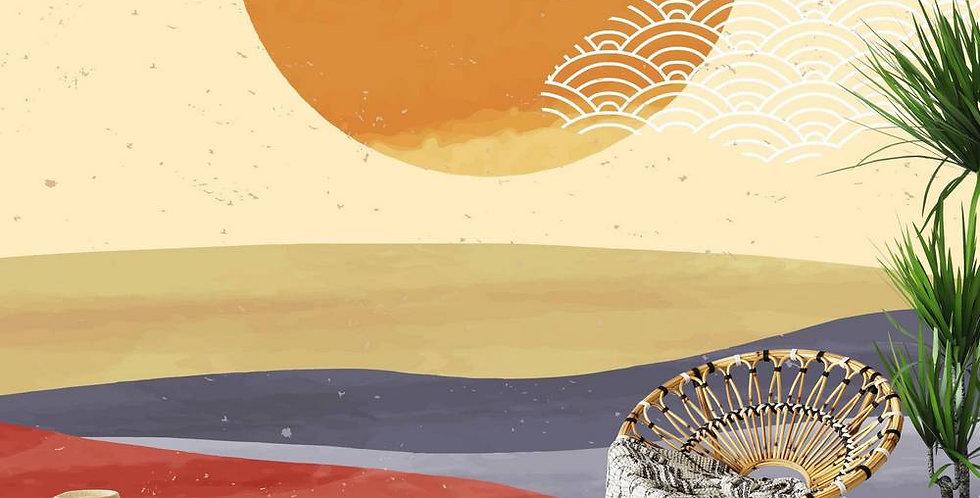 Papier peint panoramique Soleil watercolor 261/360cms