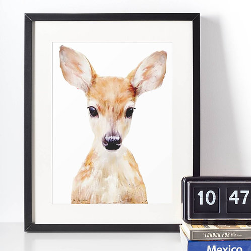 Affiche Biche watercolor