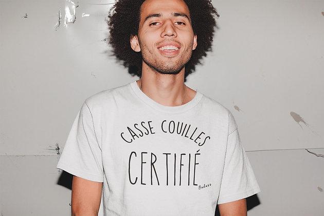 T-shirt unisexe Casse couilles Citation By Badass