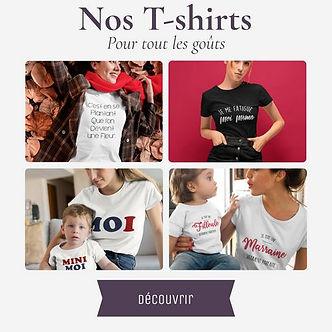 T-shirt à message et illustré