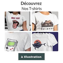 T-shirt illustré avec dessin