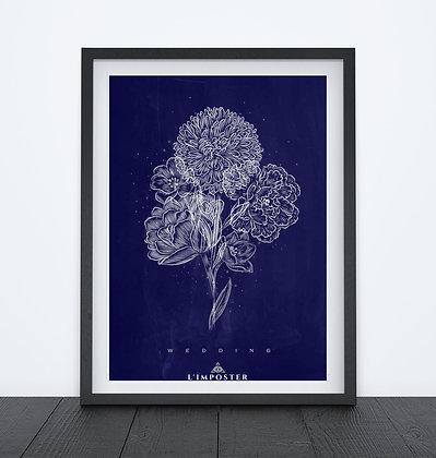 Affiche Fleurs weeding 131