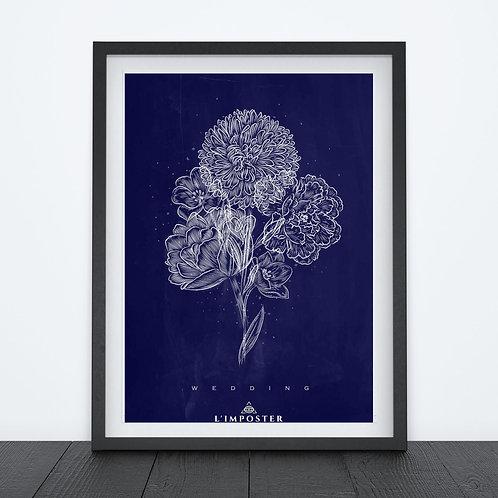 Affiche Fleurs weeding