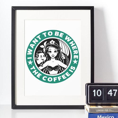 Affiche Sirène Coffee