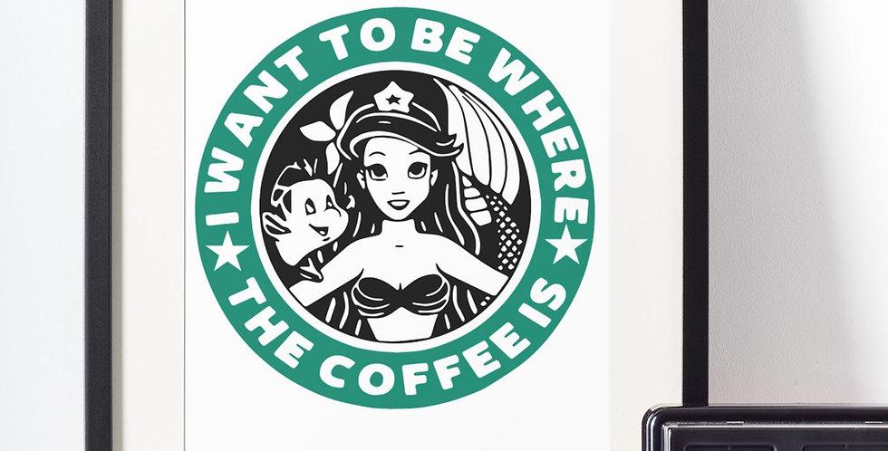 Affiche Sirène Coffee 448