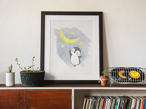 Affiche Illustration lune