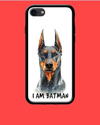 Coque mobile iPhone chien batman 184