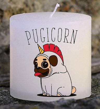 Bougie Personnalisée Nany Candle Pugicorn