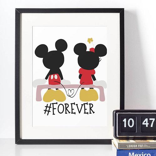 Affiche Dessin Mouse love forever