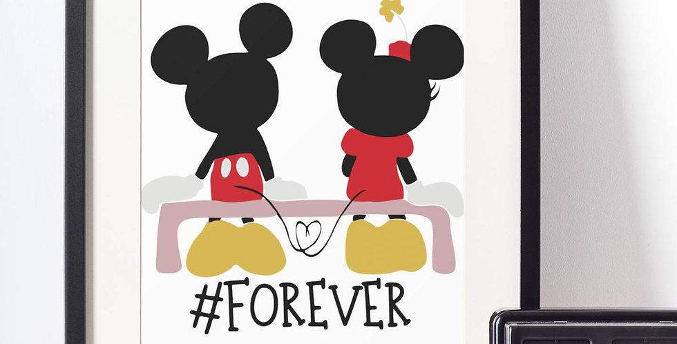 Affiche Dessin Mouse love forever 491