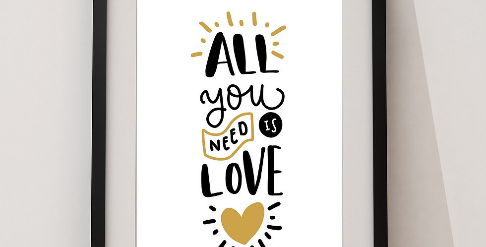 Affiche citation All you need is love 64