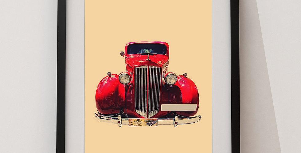 Affiche Voiture vintage 68