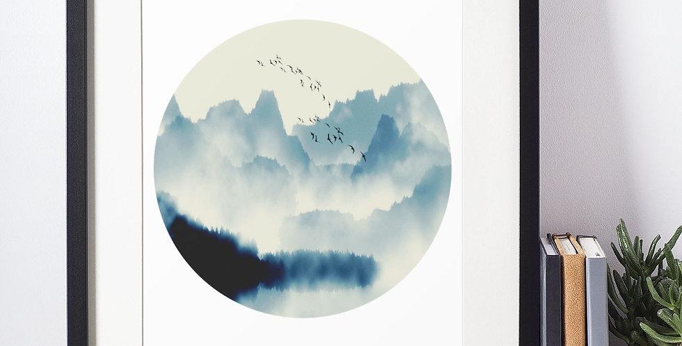 Affiche illustration paysage 392
