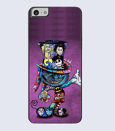 Coque mobile iphone chat de cheshire tatoo