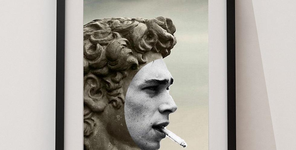 Affiche Statue smoke 84