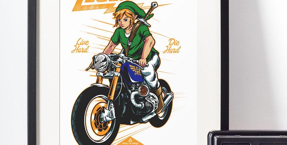 Affiche moto légende 454