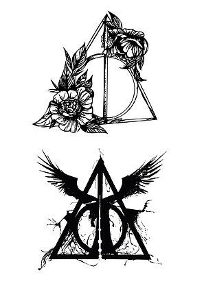 Tatouages éphémères Harry potter