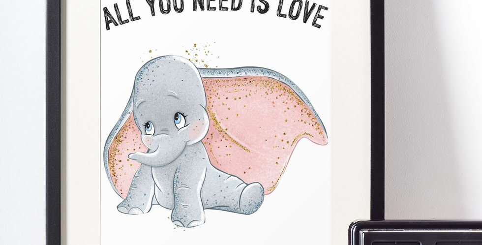 Affiche citation love Dumbo 440