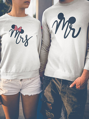 Duo Sweat Pull Over Mr & Mrs 1