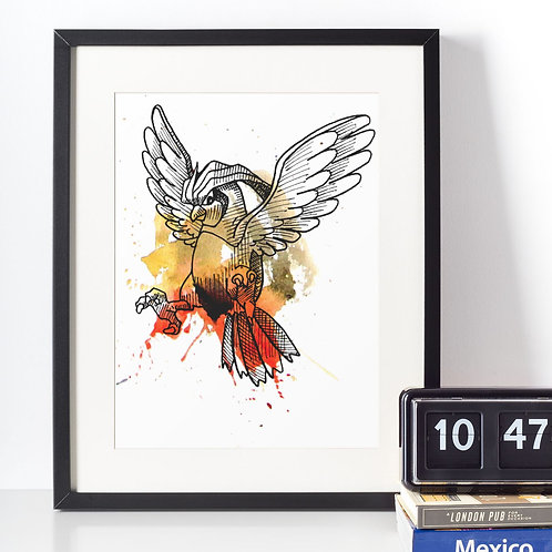 Affiche Dessin oiseau Pokemon