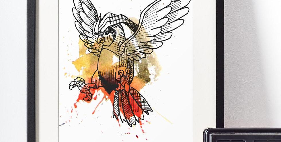 Affiche Dessin oiseau Pokemon 470