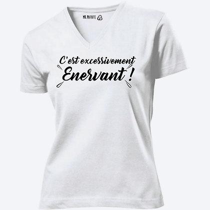 T-shirt Femme Col V C'est excessivement énervant