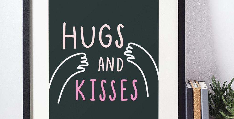 Affiche Illustration citation hugs 373